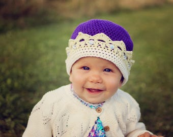 Crown Hat Crochet Pattern