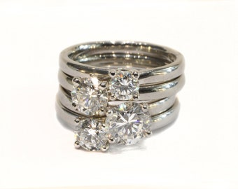 Brilliant Cut Diamond Solitare Rings set in Platinum