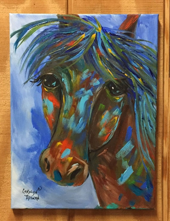 Colorful Horse Painting | Abstract Horse Painting