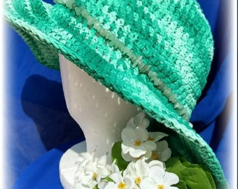 Crochet summer hat, floppy beach hat, boho hats, crochet sun hat, summer hats, spring hat, women sun hats, vegan hats,hipster hats, festival