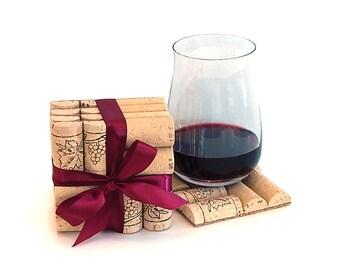 Wine Cork Coasters - SET OF 4 Coasters
