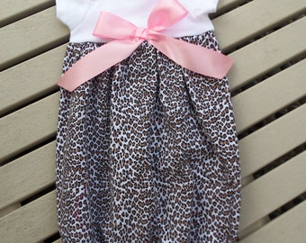 Baby Layette, Baby Gown, Gown Set, Leopard with Headband, Coming Home Outfit, Sleep Sack, Infant Gown, Photo Prop, Baby Shower, Baby Gift