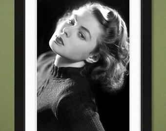 Ingrid Bergman Portrait (12x18 Heavyweight Gloss Print)