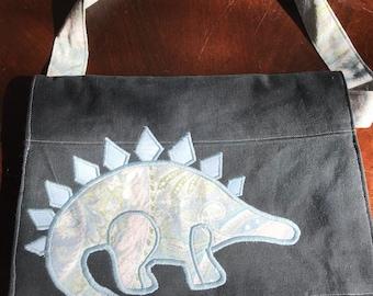 Stalwart stegosaurus messenger bag