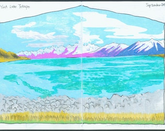Snow | Artist's Book - Travel Sketchbook - Road Comics - 1st Edition