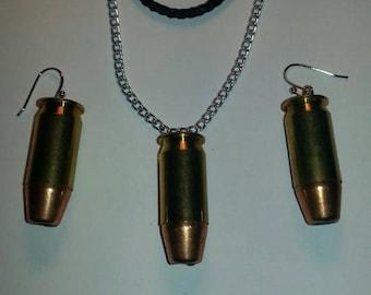 Brass 45 Brass And Bullet Earrings / Optional Charm Handmade Jewelry