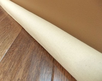 EXTRA long lengths and extended lengths // Black canvas draft guard, door draft stopper, draft snake // natural or black canvas