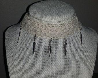 Ivory Lace Choker Necklace/Boho Necklace