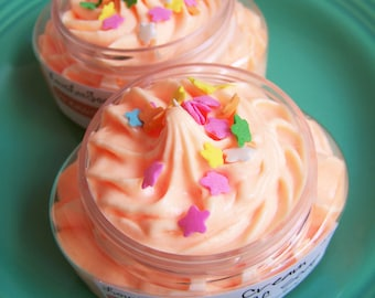 Whipped Soap Cream Fluff Dreamsicle - Whip Soap, Fluffy Whipped Soap, Soap in a Jar, Moisturizing Soap, Soap Frosting, Sprinkles, Dream