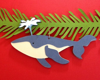 Whale Christmas tree ornament