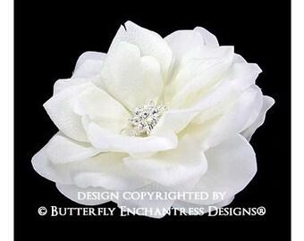 Bridal Hair Accessories, Wedding Flower Hair Clip, Floral Headpiece - Starfire Ivory Natalia Rose Bridal Hair Flower