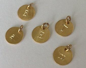 Gold Vermeil Initial Charm