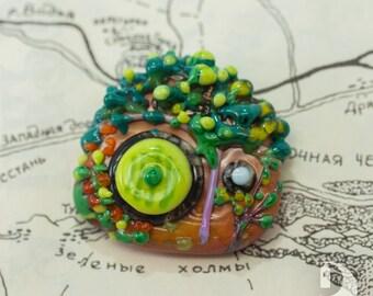 Hobbiton Hobbit Gardens Shire jewelry Fairy Bag End door Bilbo Baggins Hobbit-hole Tolkien brooch Lord of the Rings pin Romantic gift