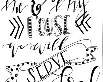 As for me and my house... Printable