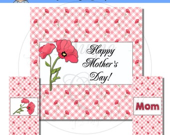Mother's Day Candy Bar Wrapper Set - Digital Printable - Immediate Download
