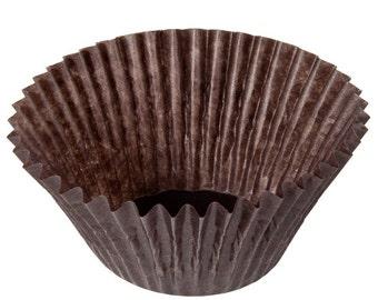 Glassine Baking Cupcake Liners/Cupcake Liners/Birthday Cupcake Liners/Brown Cupcake Liners