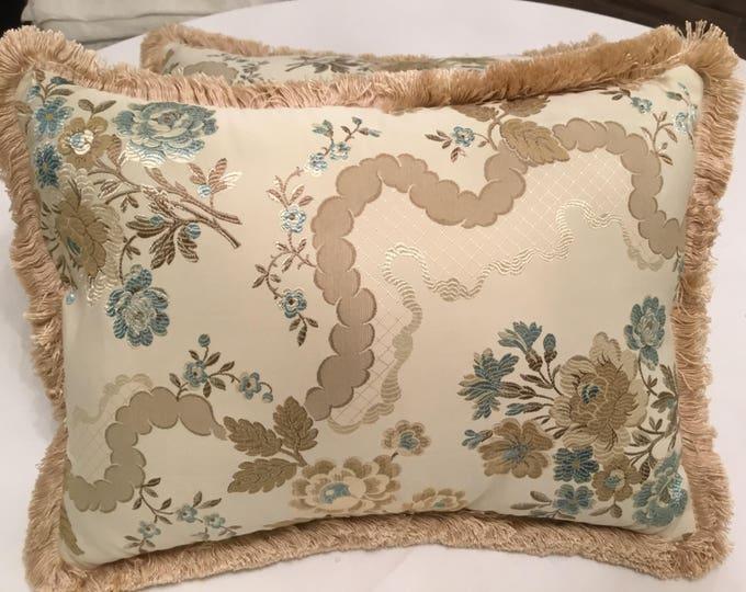 Luxury Silk pillow San Leucio unique specimen