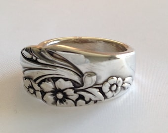 Spoon Ring, Evening Star, 1950, Size 6 to 13, Choose Your Size, Silverware Jewelry,