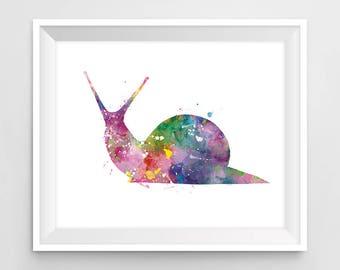 Snail, Art Print, Watercolor, Snail Painting, Animal Watercolor, Kids Room Decor, Nursery, Wall Art, Home decor, Gift, Digital Download