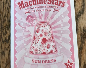 Sewing pattern for kids - dressmaking pattern - machine stars - easy sewing pattern - sewing for kids - beginners sewing