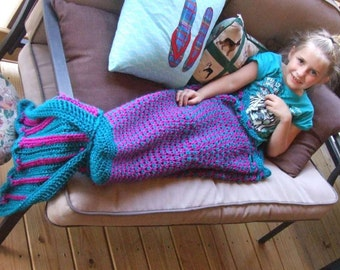 Crochet Pattern Child Size 3-6 year old Mermaid Tail, Mermaid Snuggle Sack PATTERN, Mermaid Tail Pattern, Mermaid Aghan Pattern