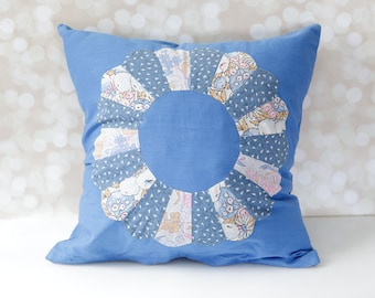 Unique Hand Sewn Pillow Cover Featuring Vintage Quilt Pieces
