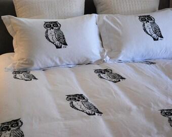 Owl Duvet Set F/Q or King Size