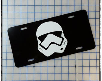Star Wars First Order Stormtrooper Helmet Custom License Plate