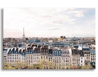 Paris Photograph on Canvas, A View on the Eiffel Tower, Architecture Photo on Canvas, French Home Decor, Large Wall Art