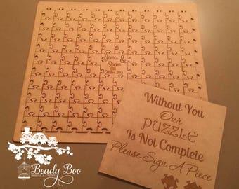 Wedding Guest Book | Alternative Wedding Guest Book | Wooden Puzzle | Rustic Guest Book | Wedding Gift-Puzzle Guest Book RAW