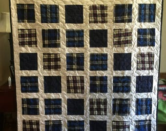 2 Bereavement Quilt made from clothing  for Renata S- DEPOSIT ONLY