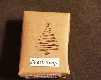 Lime and Pine Guest Soap; handmade natural lye soap; essential oil soap