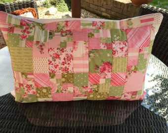 Quilted Cushion, pillow, patchwork