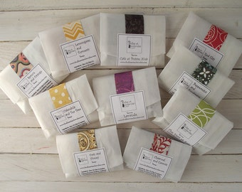 Soap samples - Wedding favors - Mini soap - Handmade soap - All natural Cold Process Soaps - with Essential Oils - Choose 4 Samples
