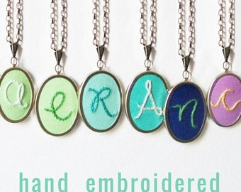 Bright accessories. Summer Necklace. Initial Necklace. Letter Pendant. Custom Jewelry. Initial Jewelry. Monogram Pendant. Colorful necklace.