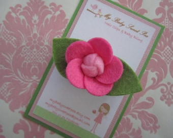 Girl hair clips - girl barrettes - flower hair clips - no slip hair clips