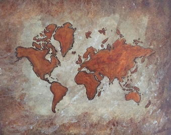 "Original Acrylic Painting - ""A World Without Borders"""