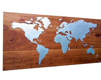 World map Metal Modern!!!! 114 x 54 cm individual production!!! Design Object