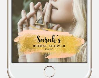 Bridal Shower Snapchat * Bachelorette Snapchat Bridal Snapchat Geofilter Gold Snapchat Filter Engagement filter Proposal Snapchat Filter