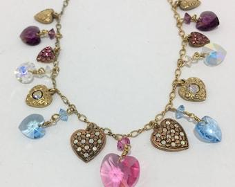 Vintage TOP SHELF JEWELRY Heart Charm Necklace