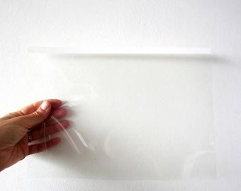 Feuilles transparentes fines plastique par lot de 3 pour tous travaux