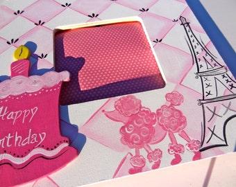 Paris France Themed Keepsake Photo Picture Frame Custom Birthday Girl