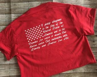 American Flag - Pledge of Allegiance T-Shirt