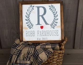 Custom Family Sign  // Farmhouse Style // farmhouse decor // family sign // family name sign // family eatablished sign // wedding gift