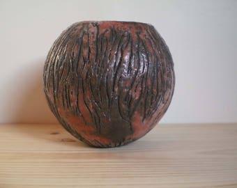 Unsigned stoneware vase