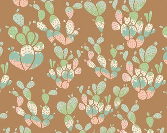 Everlasting Cacti Desert from Succulence Collection by Art Gallery - Yardage - Southwest - Tribal - Aztec - Cactus Fabric