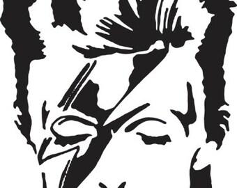 David Bowie Ziggy Stardust Decal Sticker FREE USA SHIPPING!