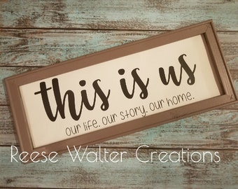 This Is Us|Reverse Canvas|Framed Print|Housewarming Gift|Wall Art|
