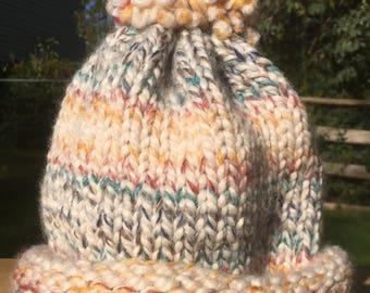 Hand Knit Wool-blend Winter Hats