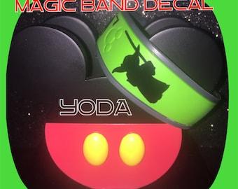 Star Wars Magic Band Decal - Yoda